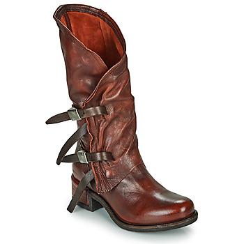 Chaussures Femme Bottes ville Les Iles Wallis et Futuna ISPERIA BUCKLE Rouge