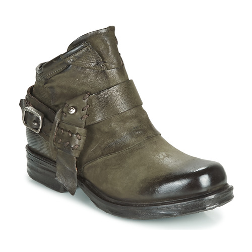 Chaussures Femme Boots Airstep / A.S.98 SAINT EC STRAPE Kaki
