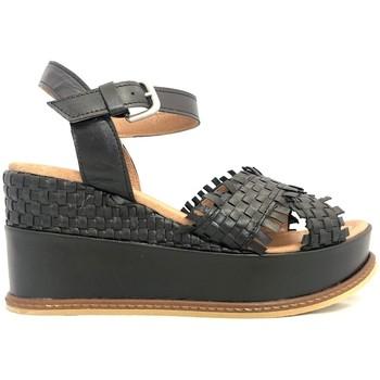 Chaussures Femme Sandales et Nu-pieds Ngy sandales SOLENA Metal Noir Noir