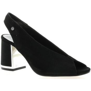 Chaussures Femme Sandales et Nu-pieds Elizabeth Stuart Escarpins cuir velours Noir