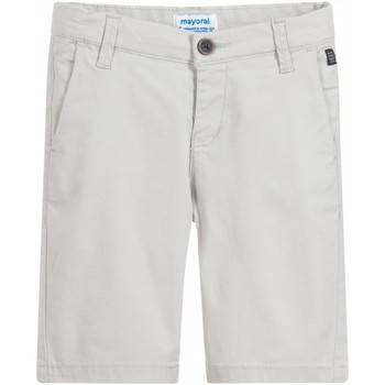 Vêtements Fille Shorts / Bermudas Mayoral Bermuda garçon chino uni Ecru