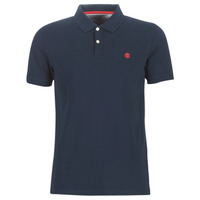 Vêtements Homme Polos manches courtes Timberland SS MILLERS RIVER COLLAR JACQUARD POLO (SLIM) Marine