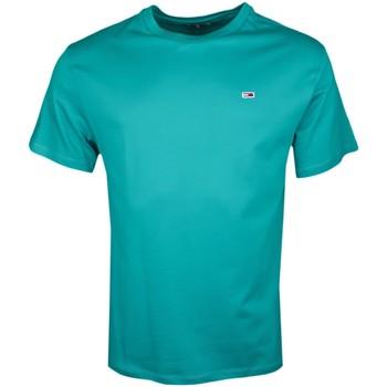 Vêtements Homme T-shirts manches courtes Tommy Jeans T-shirt col rond  vert régular fit pour homme Vert