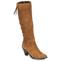 Chaussures Femme Bottes ville Regard RAKAFOU V2 CRTE VEL SILKY Camel