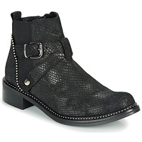 Chaussures Femme Boots Regard ROALA V1 CROSTE SERPENTE PRETO Noir