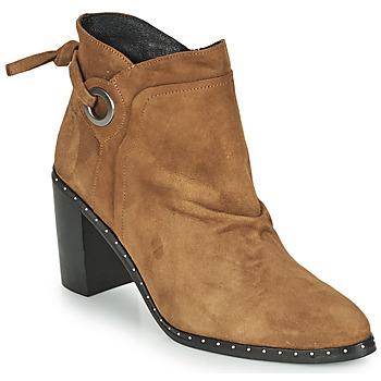 Chaussures Femme Bottines Philippe Morvan BATTLES V3 CHEV VEL Camel