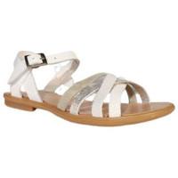 Chaussures Fille Sandales et Nu-pieds Reqin's sandale-thelma  mix cuir blanc