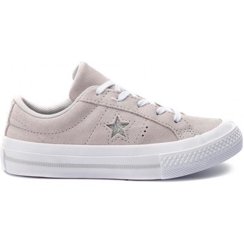 Chaussures Fille Baskets basses Converse one star ox e beige