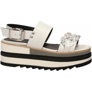 Chaussures Femme Sandales et Nu-pieds Laura Bellariva VITELLO CON CATENA bianco-trasparente