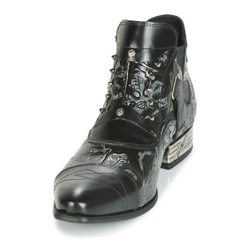 Homme Rock New Chaussures Boots Brava Noir 7b6gyvYf