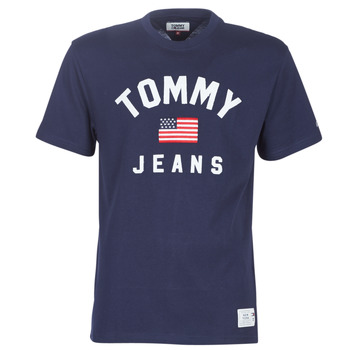 Vêtements Homme T-shirts manches courtes Tommy Jeans TJM USA FLAG TEE Marine