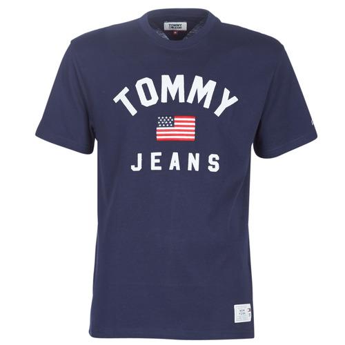 Vêtements Homme T-shirts manches courtes Tommy Jeans TJM USA FLAG TEE Marine