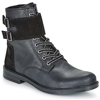 Chaussures Fille Boots Citrouille et Compagnie LOMENE Noir