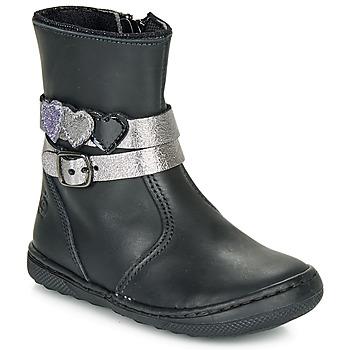 Chaussures Fille Boots Citrouille et Compagnie LOMINE Noir