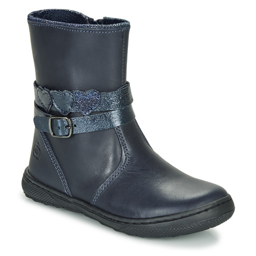 Chaussures Fille Boots Citrouille et Compagnie LOMINE Bleu