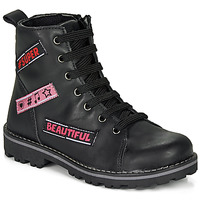 Chaussures Fille Boots Citrouille et Compagnie LIBIDOU Noir