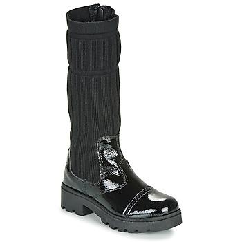 Chaussures Fille Bottes ville Citrouille et Compagnie LAPADOU Noir