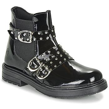 Chaussures Fille Boots Citrouille et Compagnie LIRONDEL Noir