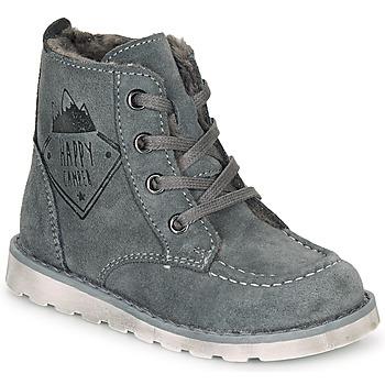 Chaussures Garçon Boots Kiwi Saint Tropez LISITON Gris