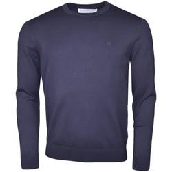 Vêtements Homme Pulls Calvin Klein Jeans Pull col rond  bleu marine en maille pour homme Bleu