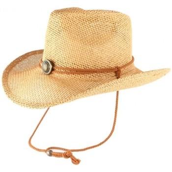 Accessoires textile Chapeaux Léon Montane Chapeau Cowboy Country Paille Marron Clair Cashy Marron