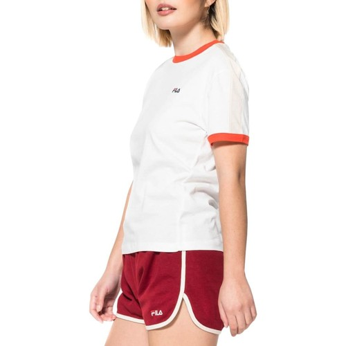 Vêtements Femme T-shirts manches courtes Fila CAMISETA BRIGHT WHITE Blanc