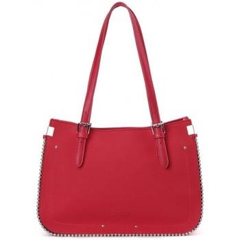 Sacs Femme Sacs porté épaule Fuchsia Sac cabas  déco perle reliée Botton Rouge Rouge