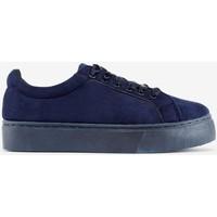 Chaussures Femme Bottines Pieces Baskets à laçets ruban F Bleu Bleu