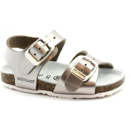 Chaussures Fille Sandales et Nu-pieds Grunland GRU-E19-SB0374-BR Metalizzato