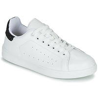 Chaussures Femme Baskets basses Yurban SATURNA Blanc / Noir
