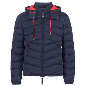 Vêtements Homme Doudounes Guess PUFFA HOODED Marine