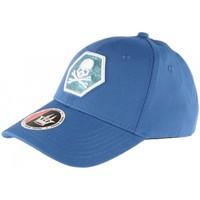 Accessoires textile Casquettes Hip Hop Honour Casquette Baseball Bleue Tete de Mort Fashion Hexkyl Bleu