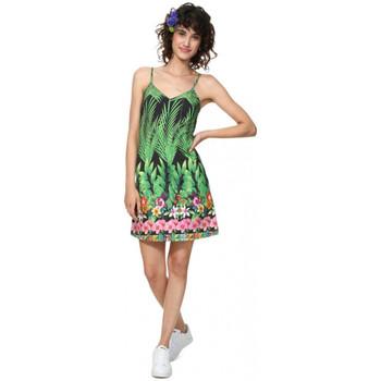 Vêtements Femme Robes courtes Desigual Robe femme Annette noir/vert 19SWVK28 38