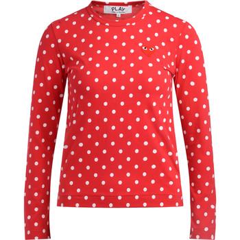 Vêtements Femme T-shirts manches longues sages femmes en Afriques T-shirt  avec des pois rouges et Rouge