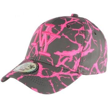 Accessoires textile Femme Casquettes Hip Hop Honour Casquette NY Rose et Grise Baseball Fashion Spyder Rose