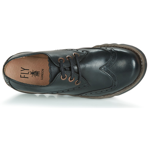 Chaussures Femme Noir Fly Derbies London Sume kuOXZiP