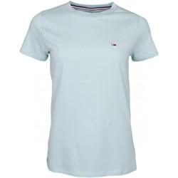 Vêtements Femme T-shirts manches courtes Tommy Jeans T-shirt col rond  vert d'eau pour femme Vert