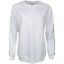 Vêtements Femme Sweats Calvin Klein Jeans Sweat  blanc logo manches pour femme Blanc