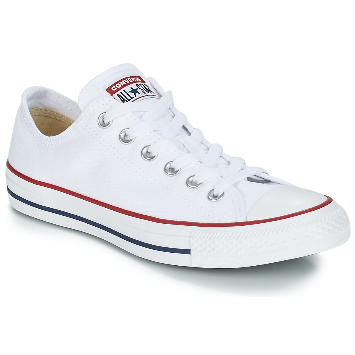 new style 2c58d a5c89 Chaussures Baskets basses Converse CHUCK TAYLOR ALL STAR CORE OX Blanc  Optical