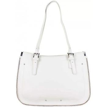 Sacs Femme Cabas / Sacs shopping Fuchsia Sac cabas  déco perle reliée Botton Blanc Multicolor