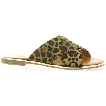 Chaussures Femme Claquettes Pao Mules Leopard