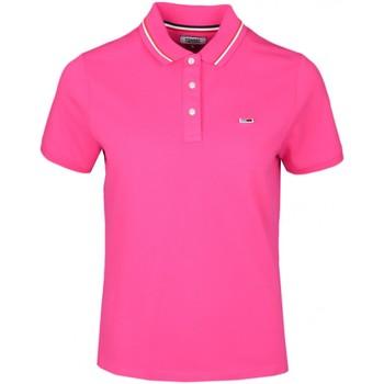 Vêtements Femme Polos manches courtes Tommy Jeans Polo ample  rose pour femme Rose