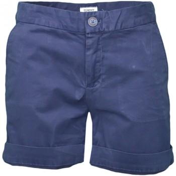 Vêtements Femme Shorts / Bermudas Tommy Jeans Short chino  bleu marine pour femme Bleu