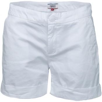 Vêtements Femme Shorts / Bermudas Tommy Jeans Short chino  blanc pour femme Blanc
