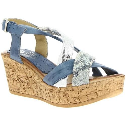 8ee650bcc25 Chaussures Femme Sandales et Nu-pieds Marila 503 bleu