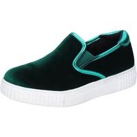 Chaussures Femme Slip ons Francescomilano slip on velours vert