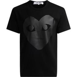 Vêtements Homme T-shirts manches courtes sages femmes en Afriques T-shirt au col rond noir, avec coeur imprimé Noir