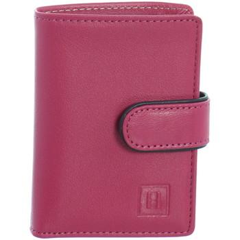 Sacs Femme Portefeuilles Hexagona Petit porte-cartes  cuir ref_40922 Fushia/ rose