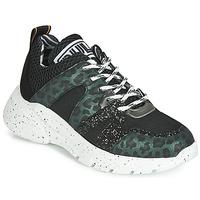 Chaussures Femme Baskets basses Meline LETTE Noir /vert
