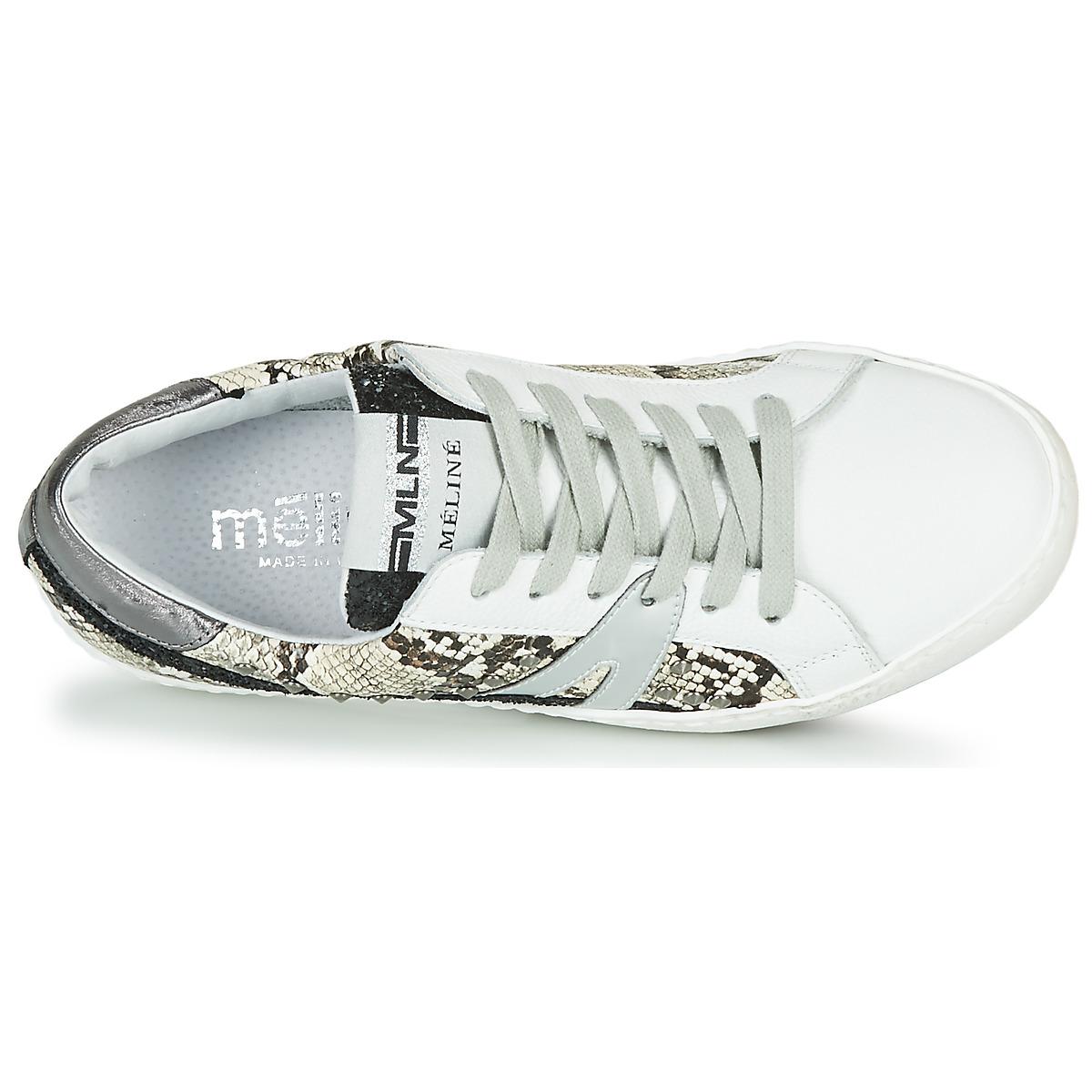 Meline Blanc / Phyton - Livraison Gratuite Chaussures Baskets Basses Femme 119,00 €